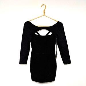 NWT NBD Revolve Collette Black Bodycon Dress XS